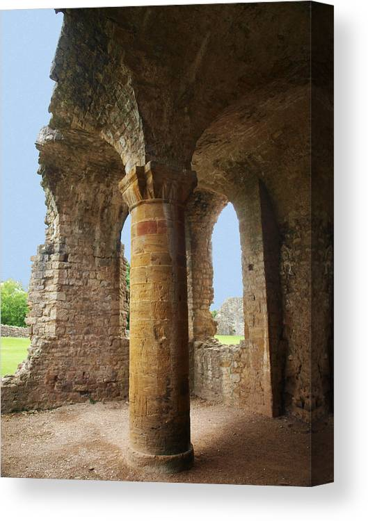 Sherborne Old Castle Canvas Print featuring the photograph Sherborne Old Castle - 1 by Michaela Perryman