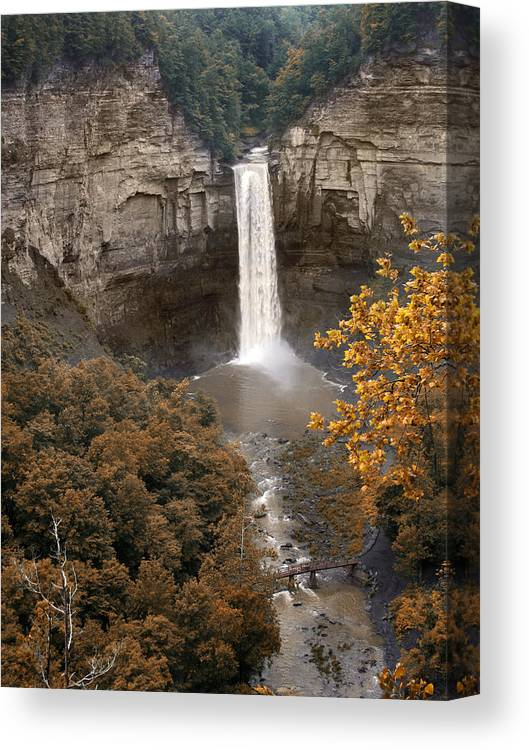 Landscape Canvas Print featuring the photograph Taughannock Falls Park by Jessica Jenney