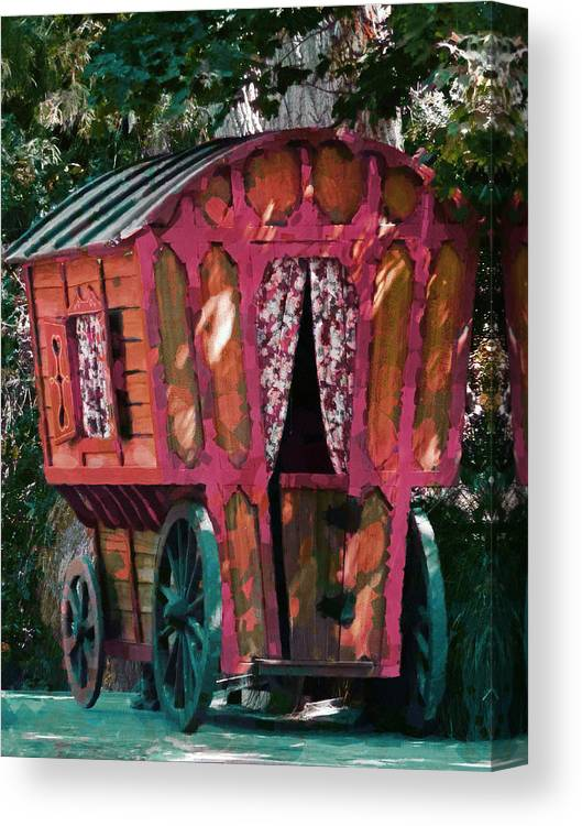 Caravn Canvas Print featuring the photograph The Gypsy Caravan by Steve Taylor