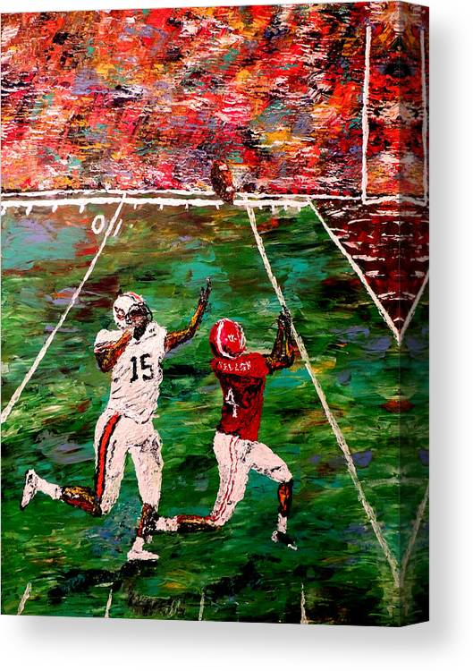 The Longest Yard - Alabama Vs Auburn Football Canvas Print