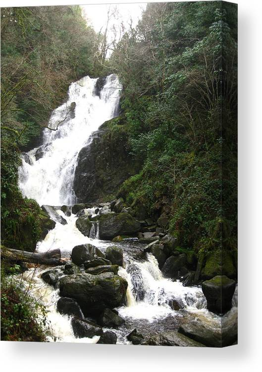 Waterfall Canvas Print featuring the photograph Torc Falls Ireland by Margaret Hodgson