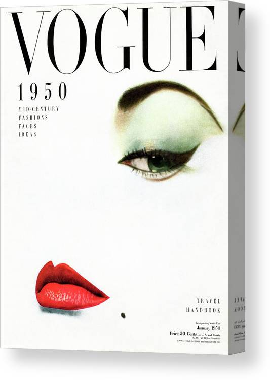 Beauty Canvas Print featuring the photograph Vogue Cover Of Jean Patchett by Erwin Blumenfeld