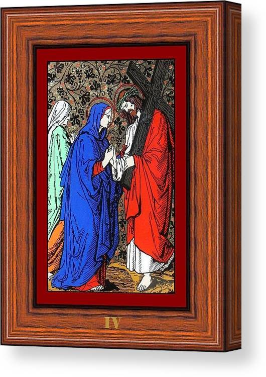 Painting Canvas Print featuring the painting Drumul Crucii - Stations Of The Cross by Buclea Cristian Petru
