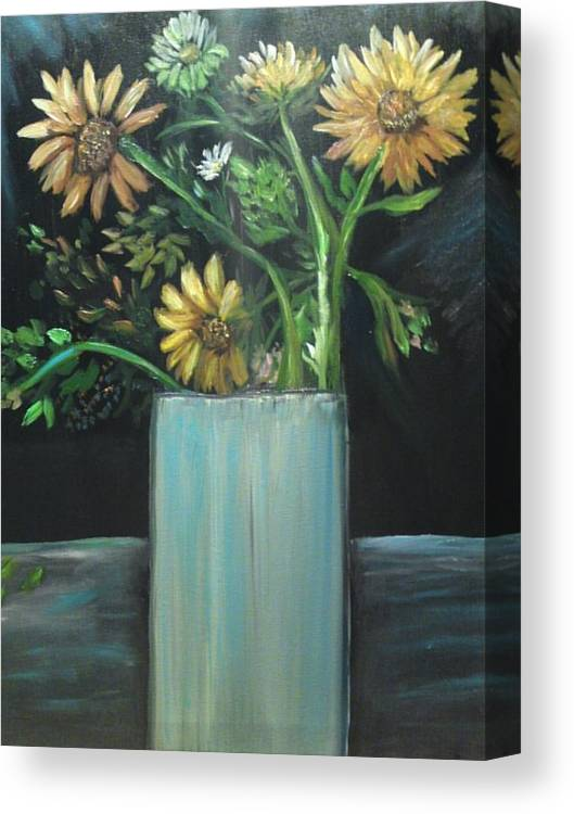 Still Paintings Canvas Print featuring the painting Autumn Bouquet by Linda Morrison