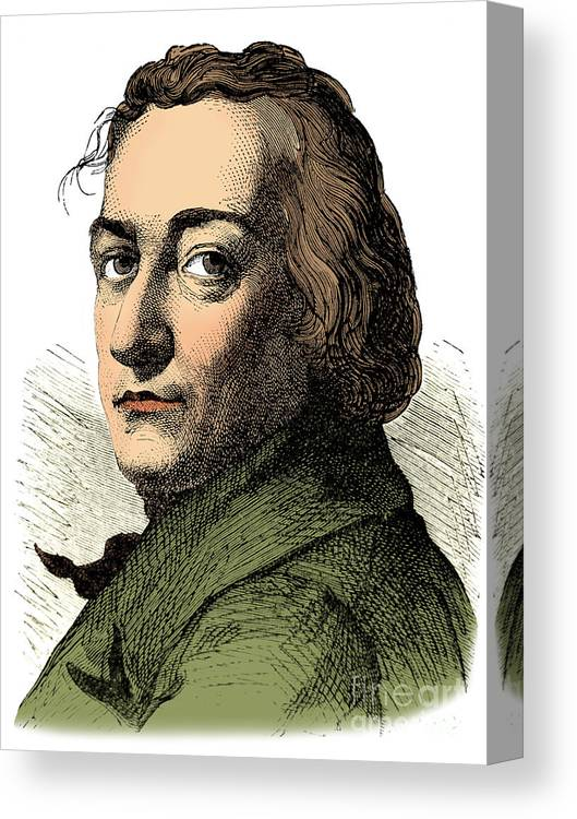 Science Canvas Print featuring the photograph Claude-louis Berthollet, French Chemist by Science Source