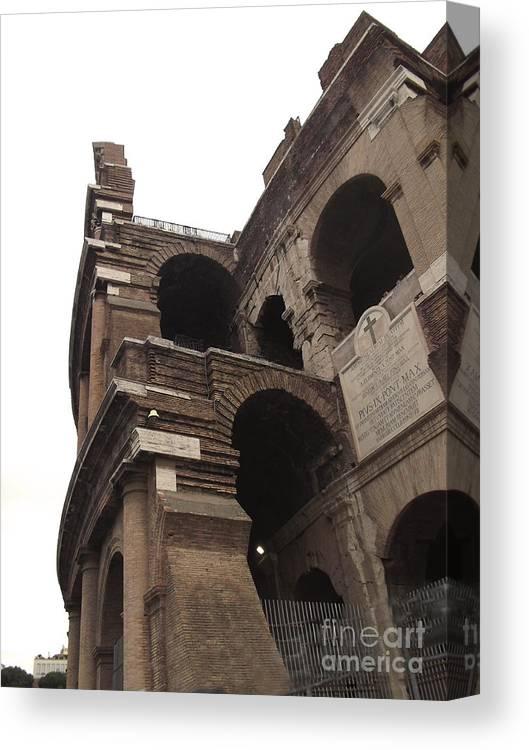 Coloseum Rome Canvas Print featuring the photograph Coloseum Rome by Paul Sandilands