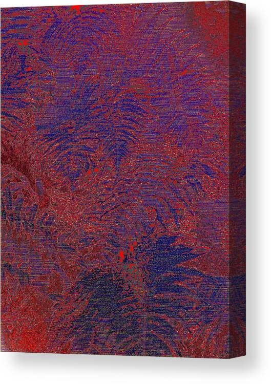 Fern Canvas Print featuring the digital art Fern Grove by Tim Allen