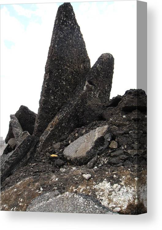 Big Rocks Canvas Print featuring the photograph Hard-rock #2 by Todd Sherlock