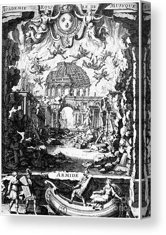 1686 Canvas Print featuring the photograph Lully: Armide, 1686 by Granger
