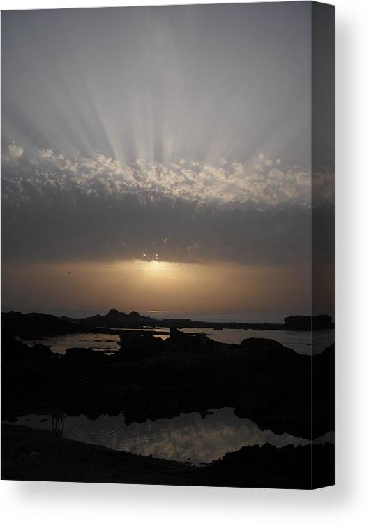 Morocco Canvas Print featuring the photograph Moroccan Sunset by Jennifer Eddiba