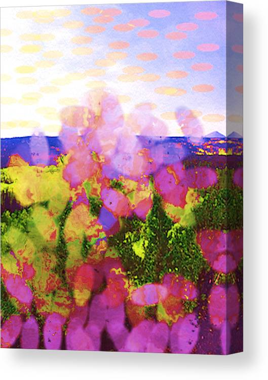 Flowers Canvas Print featuring the painting Petals Rise To Heaven by Naomi Jacobs