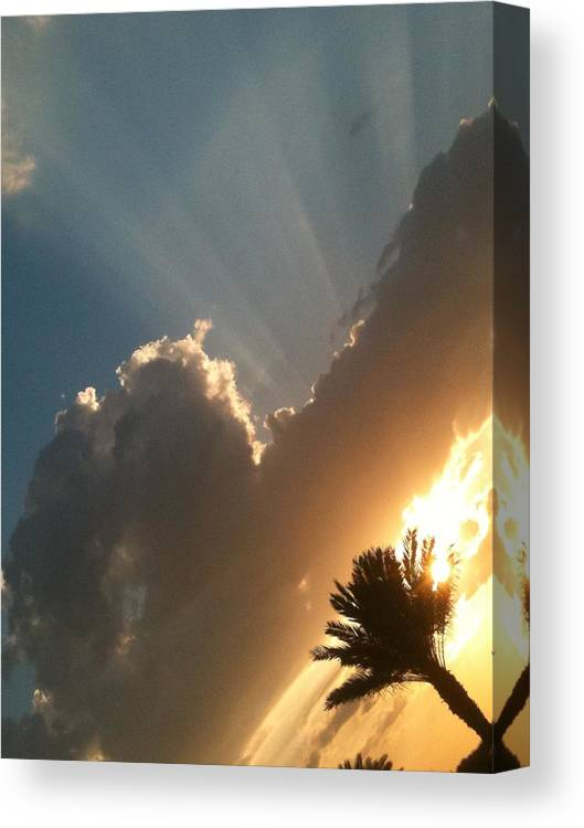 Sun Ray Canvas Print featuring the photograph Raze by Jason Crandell