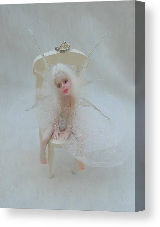 Fairy Canvas Print featuring the photograph Sabrina by Deborah Gouldthorpe