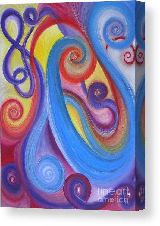 Abstract Canvas Print featuring the painting The Music Of Life by Lisa Bell