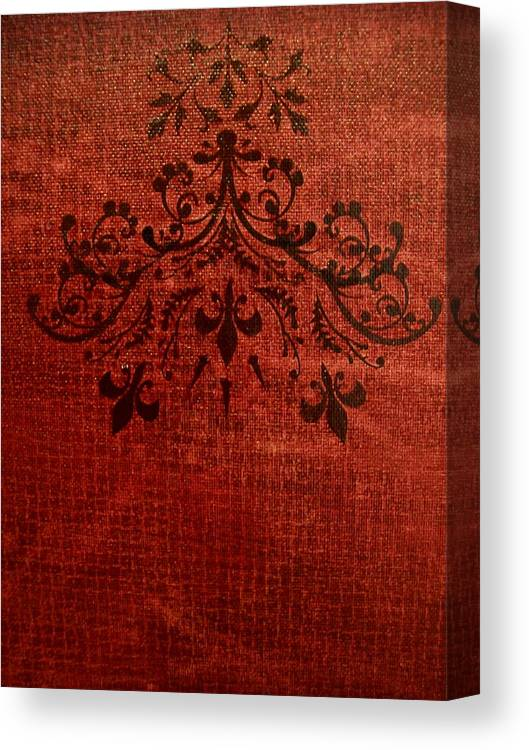Red Canvas Print featuring the painting Boudoir Two by Laurette Escobar