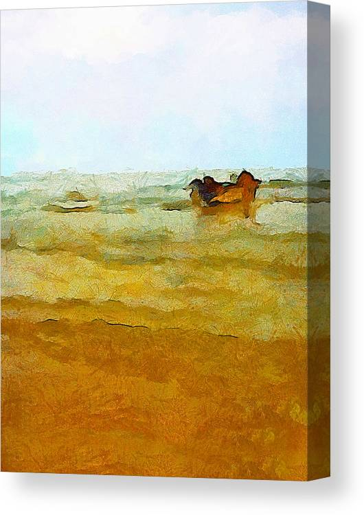 Abstract Canvas Print featuring the photograph Fishing Boat by Galeria Trompiz