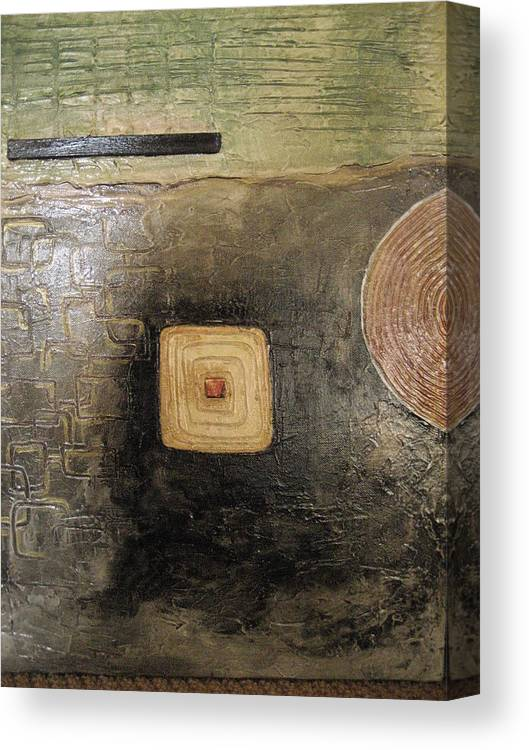 Abstract Canvas Print featuring the painting None by Jessica De la Torre