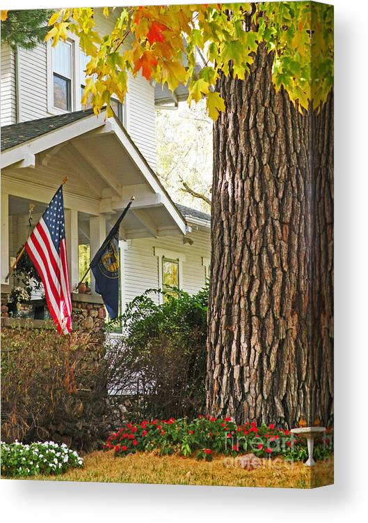 Fall Canvas Print featuring the photograph Autumn In Small Town America by Christine Belt