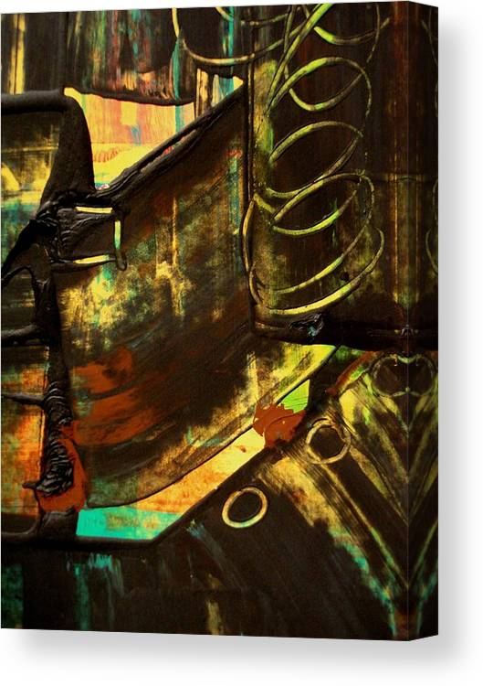 Mixed Media Print Canvas Print featuring the painting Untitled by Teo Santa