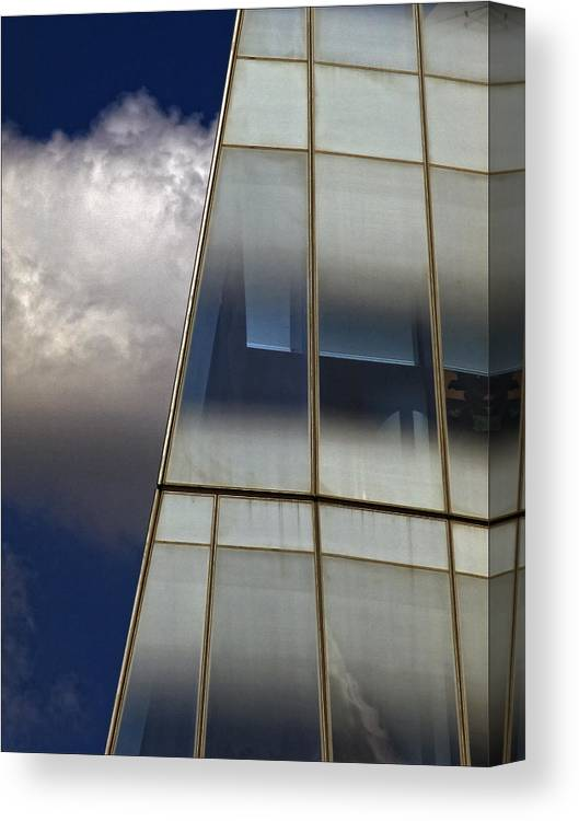 Architectural Detail Canvas Print featuring the photograph Detail Frank Gehry Building Manhattan by Robert Ullmann