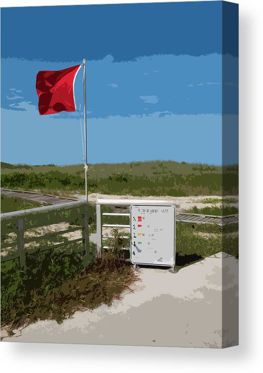 Storm Canvas Print featuring the painting Storm Warning On The Atlantic Ocean In Florida by Allan Hughes