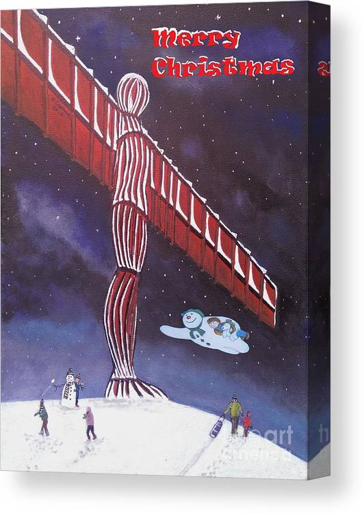 Angel Christmas Canvas Print featuring the painting Angel Of The North by Neal Crossan
