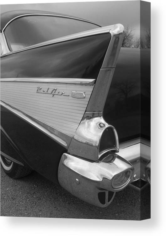 Automobile Canvas Print featuring the photograph 57 Chevy by Audrey Venute