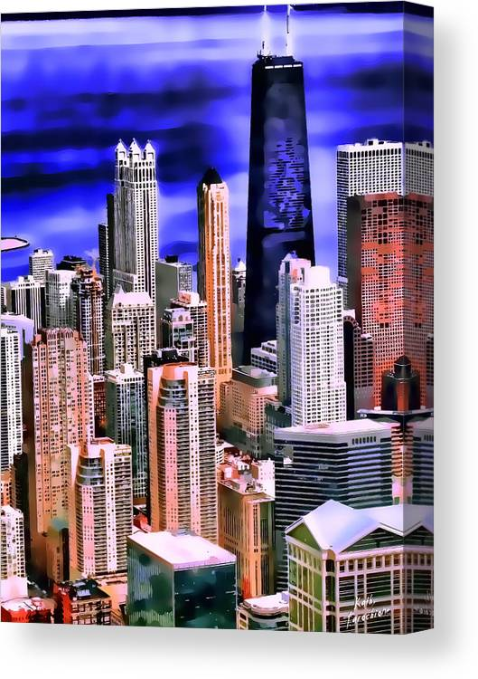 Chicago Canvas Print featuring the photograph A Look At Chicago by Kathy Tarochione