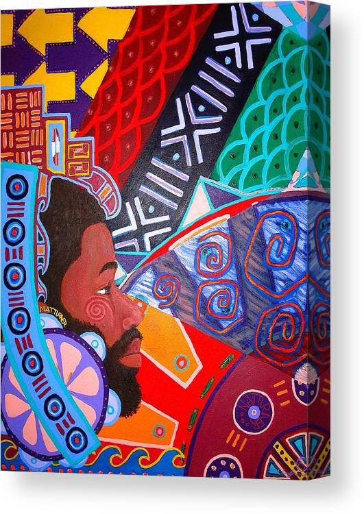 Malik Seneferu Canvas Print featuring the painting Aesthetic Ascension1 by Malik Seneferu