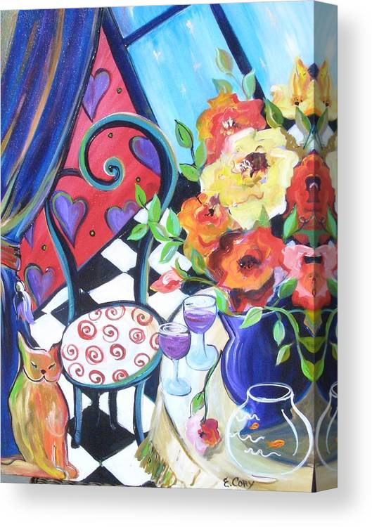 Romance Canvas Print featuring the painting Afternoon Romance by Elaine Cory