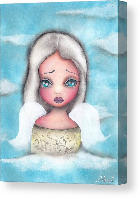 Ange Canvas Print featuring the painting Angel by Abril Andrade Griffith