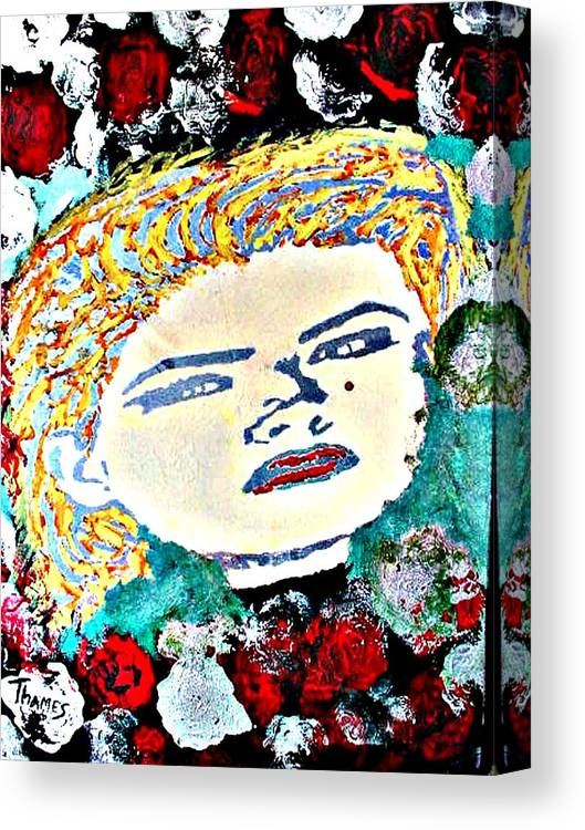 Girl Canvas Print featuring the painting Anna Nicole by Christopher Thames