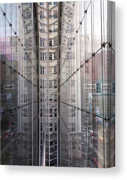 Glass Canvas Print featuring the photograph Between Glass Walls by Rona Black
