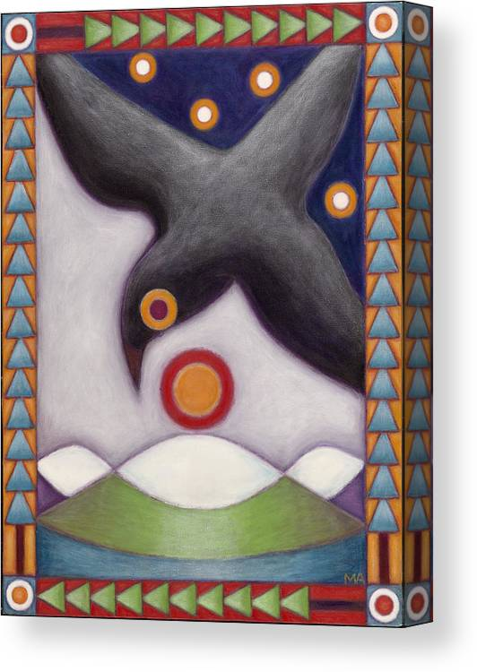 Whimsical Canvas Print featuring the painting Birds Eye View by Mary Anne Nagy