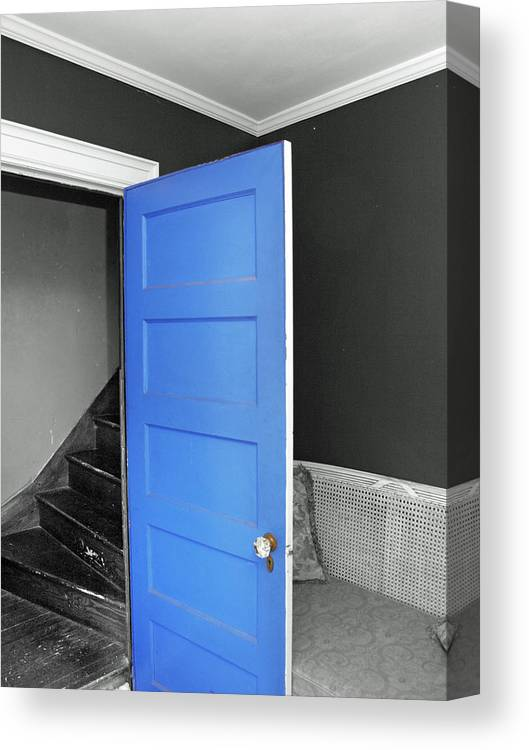 Door Canvas Print featuring the photograph Blue by Frank Nicolato