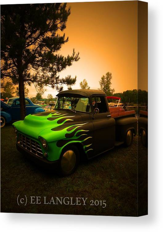 Classic Car Show Canvas Print featuring the photograph Born To Be Wild by Eric Langley