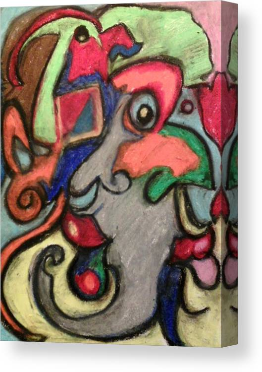 Abstact Canvas Print featuring the pastel by Derrick Hayes Abstract by Derrick Hayes