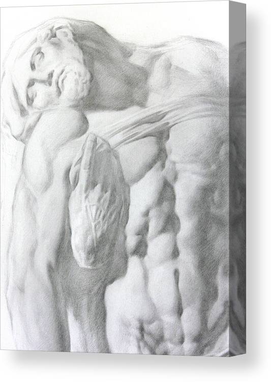 Nude Canvas Print featuring the drawing Christ 1a by Valeriy Mavlo
