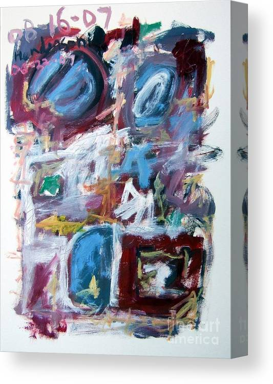 Abstract Canvas Print featuring the painting Composition No. 10 by Michael Henderson