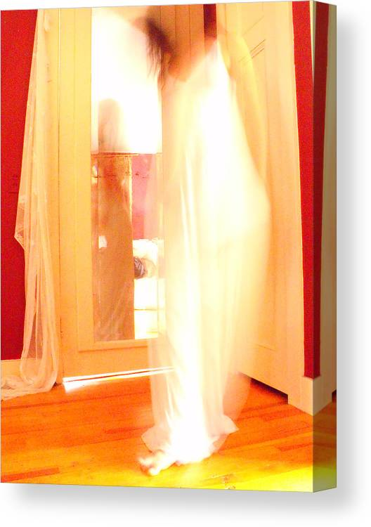 Dancer Canvas Print featuring the photograph Dance In White 2 by Erika Brown