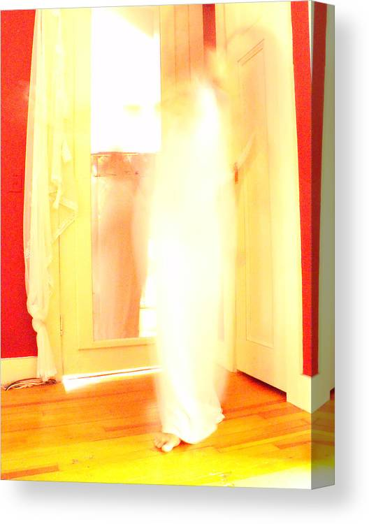 Woman Canvas Print featuring the photograph Dance In White 3 by Erika Brown