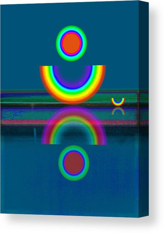 Reflections Canvas Print featuring the painting Dark Mirror by Charles Stuart