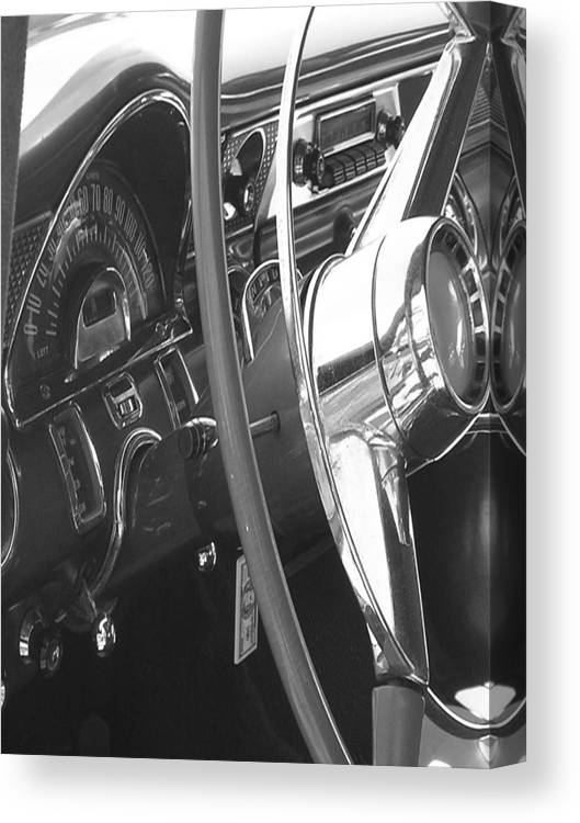 Car Artwork Canvas Print featuring the photograph Dashboard by Audrey Venute