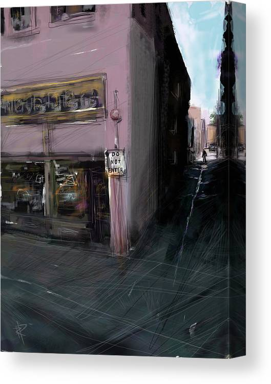 Alley Canvas Print featuring the mixed media Do Not Enter by Russell Pierce