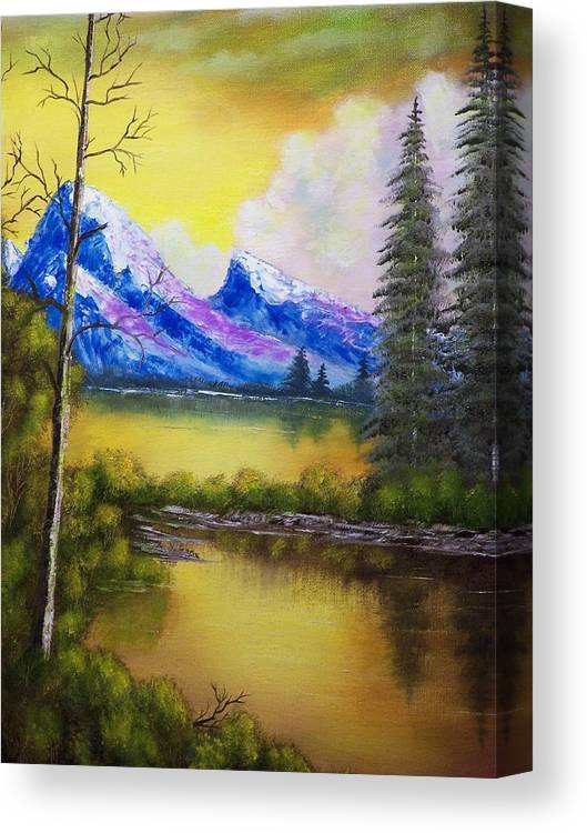 Landscape Canvas Print featuring the painting Dreaming In Color by Charles Vaughn
