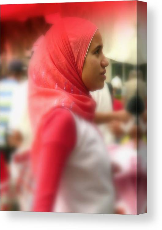 Arab Canvas Print featuring the photograph Dreamy Woman by Funkpix Photo Hunter