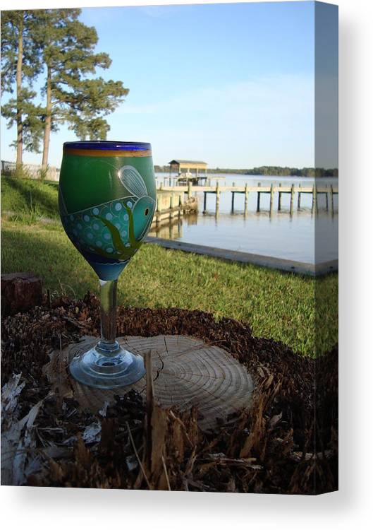 Glass Canvas Print featuring the photograph Drink In The Sky by Crescentia Mello