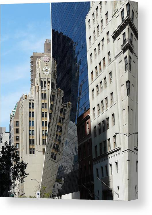 New York Canvas Print featuring the photograph Drowning By Reflection by Valerie Ornstein