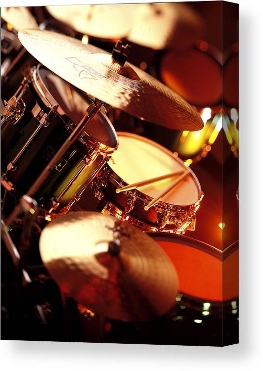Drums Canvas Print featuring the photograph Drums by Robert Ponzoni