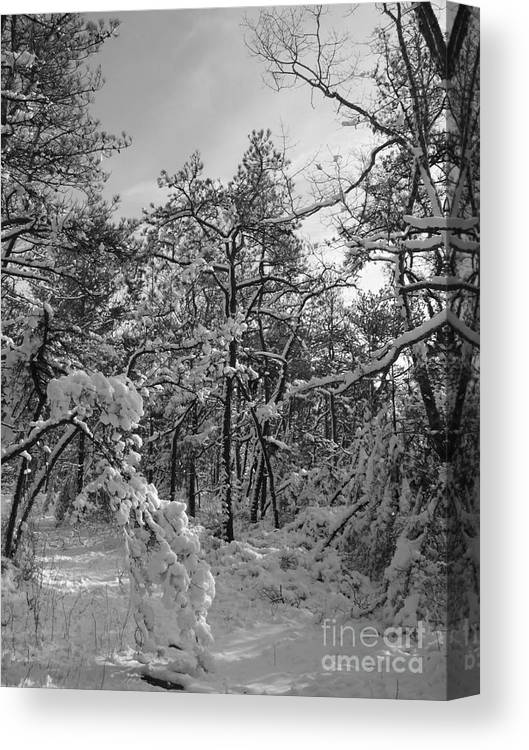 Black And White Canvas Print featuring the photograph Empty Travel by Chad Natti